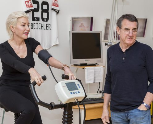 Heather Mills - Fitness Check und Trainingsplan bei Heinrich Bergmüller in Wien