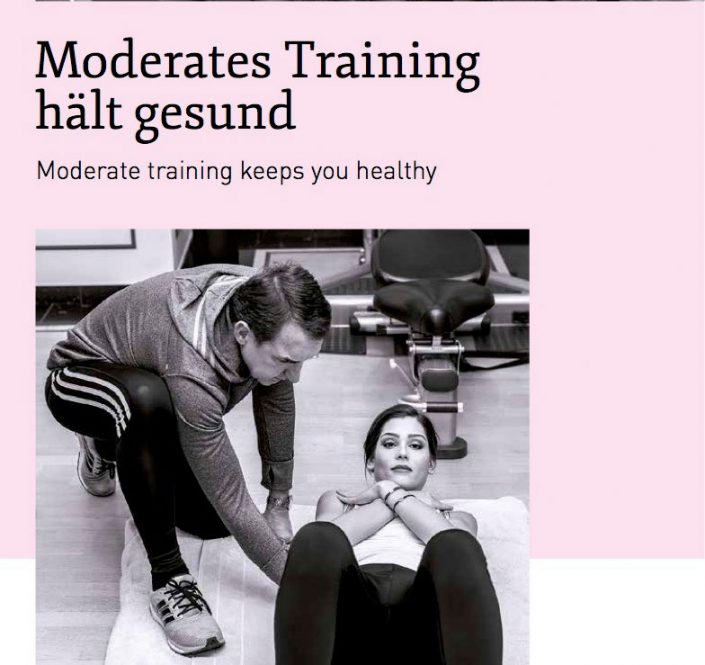 Moderates Training hält gesund