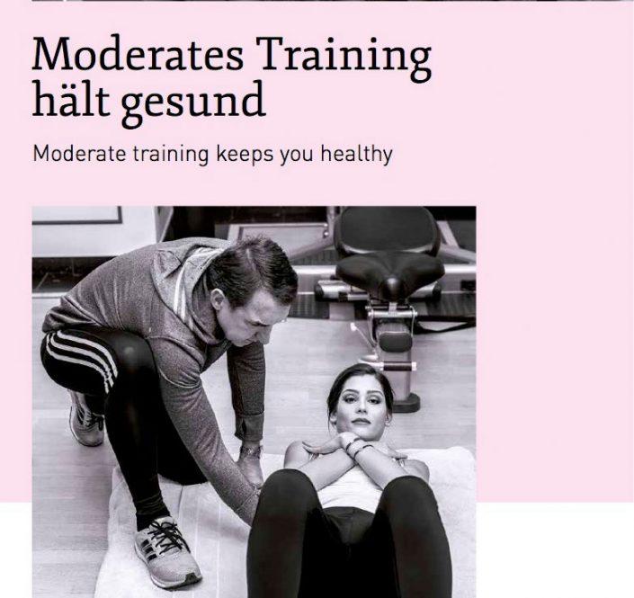 Moderates Training hält gesund