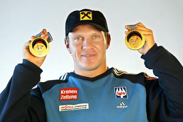 Hermann Maier, Olympiasieger Super G, Riesenslalom, Nagano